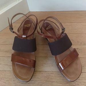Dansko Copper Wedges Ankle Strap Sandals 39